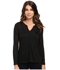 Calvin Klein Jeans Long Sleeve Rollup With Cargo Pockets Black Women's Clothing