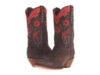 Dan Post Wild Bird Chocolate Red Metal Cowboy Boots Brown