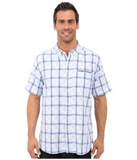 Tommy Bahama Plaid Perfect Short Sleeve Dress Blue Men's Clothing Navy