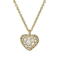 Finn Women's Puffed Heart Pendant Necklace No Color
