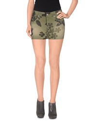 Roy Rogers Roy Roger's Skirts Mini Skirts Women Military Green