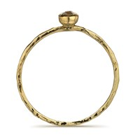 Frillybylily Hammered Gold And Teeny Diamond Ring Ancient Awe