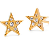 Harry Rocks Gold Star Stud Earrings