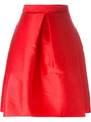 P.A.R.O.S.H. Satin A Line Skirt Red