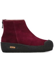 Bally 'Guard' Ankle Boots Red