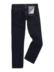 Gant Men's Regular Fit Denim Jeans Denim Dark Indigo