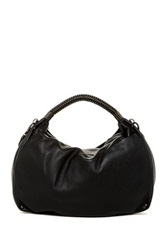 Kenneth Cole New York No Slouch Leather Hobo Black