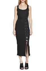 French Connection Women's 'Tommy' Lace Up Ribbed Midi Dress