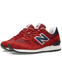 New Balance M670rn Made In England Deep Red And Navy