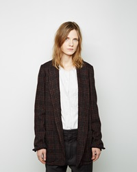 Etoile Isabel Marant Chuck Wool Blazer Midnight And Black
