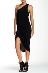 Riller And Fount One Shoulder Pinched Front Mini Dress Black