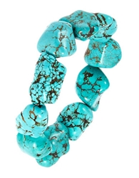 Lord And Taylor Semi Precious Turquoise Stretch Bracelet