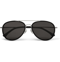 Dries Van Noten Metal Aviator Sunglasses Black