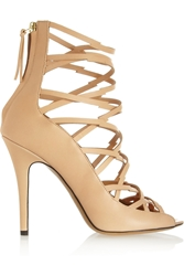 Isabel Marant Paw Multi Strap Leather Sandals Neutral