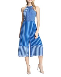 Cece By Cynthia Steffe Alicia High Neck Jumpsuit Compare At 268 Blue Abyss