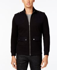 Inc International Concepts Men's Faux Fur Lined Jacket Only At Macy's Deep Black