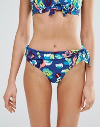 Pour Moi Pour Moi Coral Reef Fold Over Bikini Bottom Coral Reef Blue