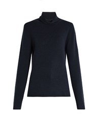 Chloe Roll Neck Cashmere Sweater Navy