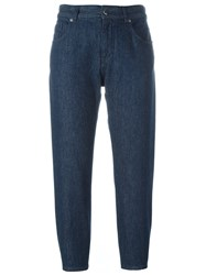 Maison Martin Margiela Mm6 Cropped Denim Trousers Blue