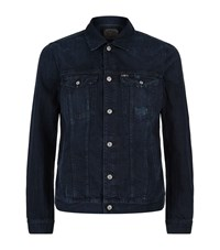 7 For All Mankind Trucker Jacket Male Dark Blue