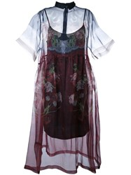 Mother Of Pearl Floral Print Sheer Dress Multicolour