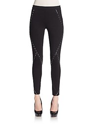 Haute Hippie Studded Skinny Pants Black