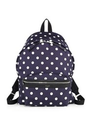 Yves Saint Laurent Polka Dot Medium Backpack Blue