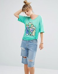 Wildfox Couture Time For Another V T Shirt Green