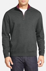 Tommy Bahama Men's 'Flip Side' Reversible Quarter Zip Twill Pullover Forged Iron Heather