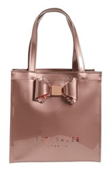 Ted Baker London 'Small Glitter Bow Icon' Tote