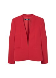 Mango Essential Structured Blazer Pink