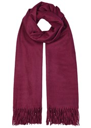 Johnstons Of Elgin Merlot Cashmere Scarf Burgundy