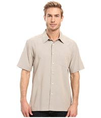 Quiksilver Cane Island Woven Top Chinchilla Men's Short Sleeve Button Up Gray