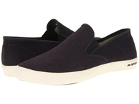 Seavees 02 64 Baja Slip On Standard Slate Navy Vintage Wash Linen Men's Shoes Brown