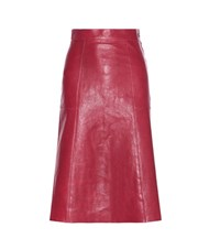 Vanessa Bruno Doma Leather Skirt Red
