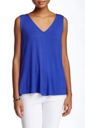 Laundry By Shelli Segal Crossback Pleated Tank Blue