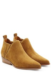 Kendall Kylie Suede Ankle Boots Camel