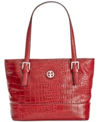 Giani Bernini Croc Embossed Tote Only At Macy's Red