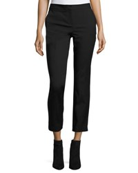 Cynthia Steffe Double Weave Slim Fit Ankle Pants Rich Black