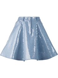 Moschino Sequin Embellished Denim Skirt