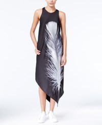 Rachel Roy Printed Asymmetrical Dress Only At Macy's Black Combo