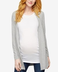 A Pea In The Pod Maternity Lace Paneled Cardigan Heather Grey