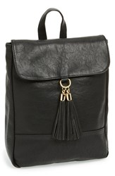 Sole Society 'Ellie' Faux Leather Mini Backpack Black