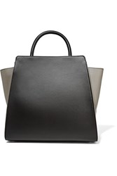Zac Posen Eartha Iconic Two Tone Leather Tote Black