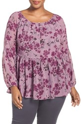 Addition Elle Love And Legend Plus Size Women's Bishop Sleeve Babydoll Blouse