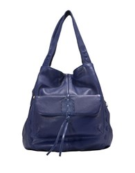 Sanctuary Laurel Canyon Leather Drawstring Tote Indigo