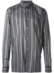 Kris Van Assche Striped Shirt Grey