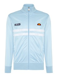 Ellesse Funnel Neck Full Zip Chest Stripe Logo Track Top Light Blue