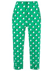 Reinaldo Lourenco Cropped Trousers Green