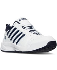 K Swiss Men's Vendy Ii Casual Sneakers From Finish Line White Navy